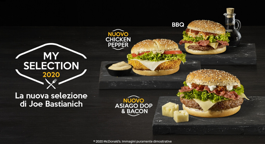 My Selection 2020 Mc Donald's - Joe Bastianich - Asiago