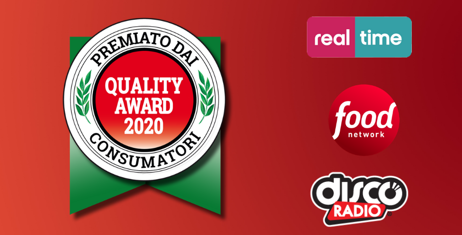 quality award 2020, real time, food network, discoradio