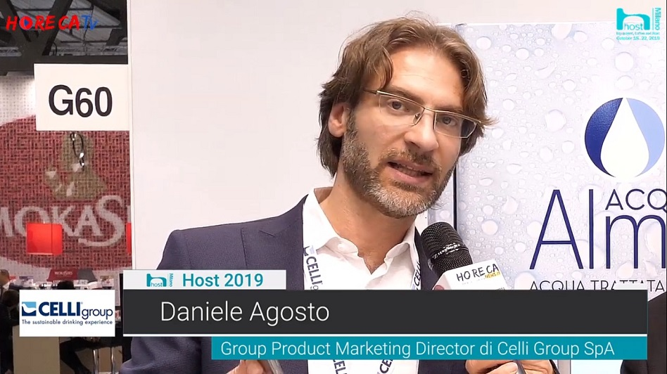 HorecaTv.it. Intervista a Host 2019 con Daniele Agosto di Celli Group - Acqua Alma